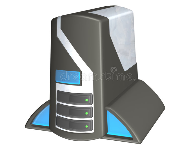 Toren 1 van PC stock illustratie