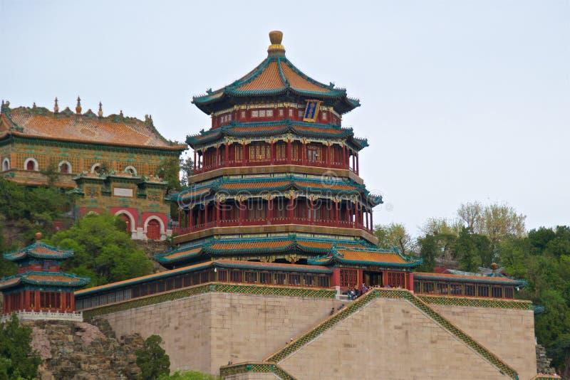 Toren bij de Zomerpaleis in Peking, China royalty-vrije stock foto's
