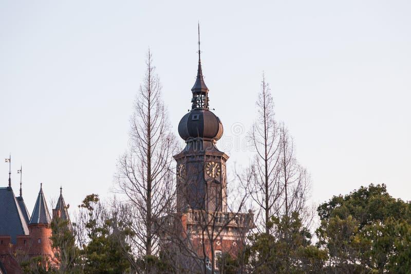 Toren bij Huis ten Bosch in Japan royalty-vrije stock foto