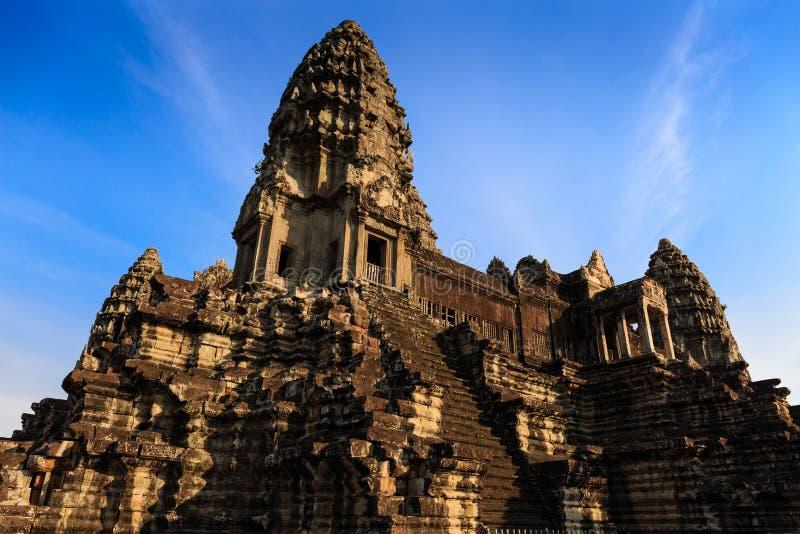 Toren Complex op het Centrum van Angkor Wat royalty-vrije stock afbeelding
