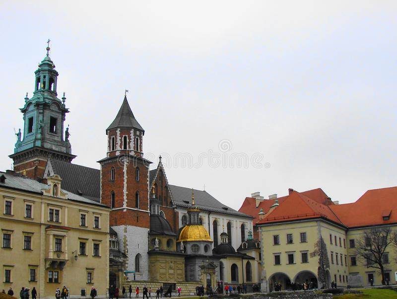 Toren in de oude stad van Krakau stock afbeeldingen
