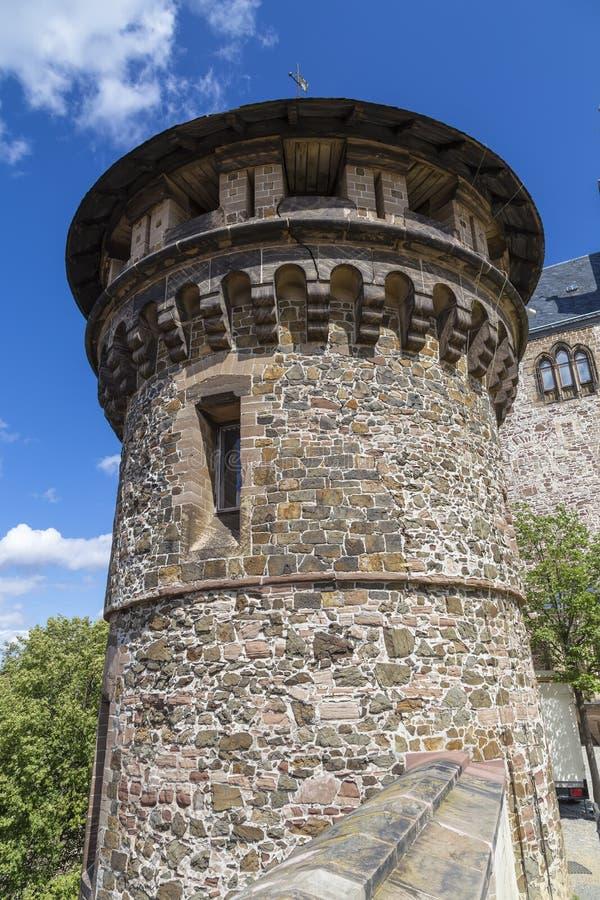 Toren in het kasteel van Wernigerode royalty-vrije stock fotografie