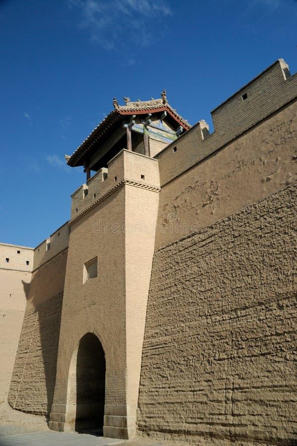 Toren in Jiayuguan stock afbeeldingen