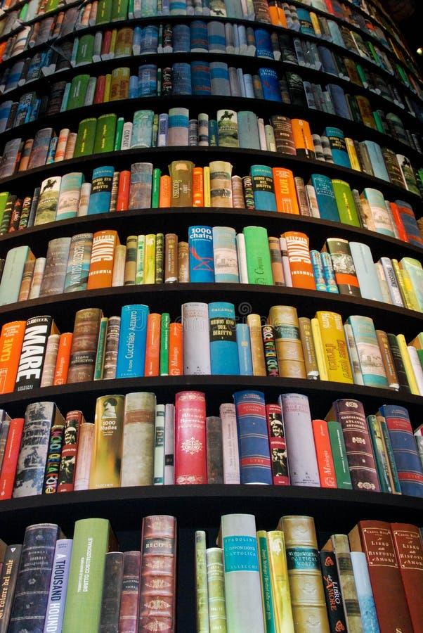 Toren met boeken stock afbeelding