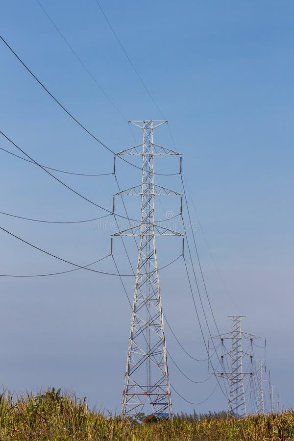 Toren met hoog voltage. royalty-vrije stock foto's