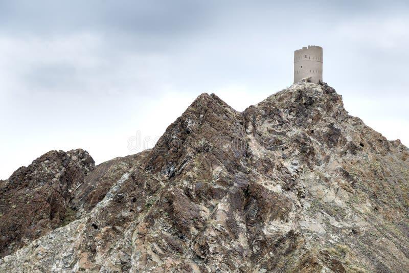 Toren in Muscateldruif, Oman royalty-vrije stock afbeeldingen