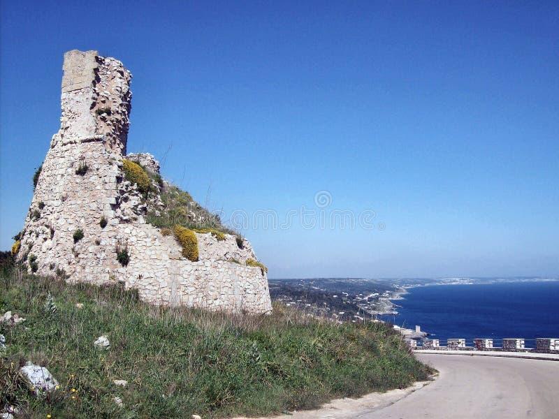 Toren op de kust stock afbeeldingen