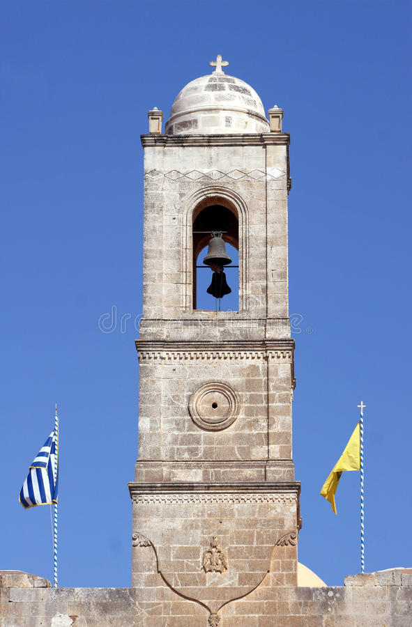 toren Orthodox klooster stock foto's