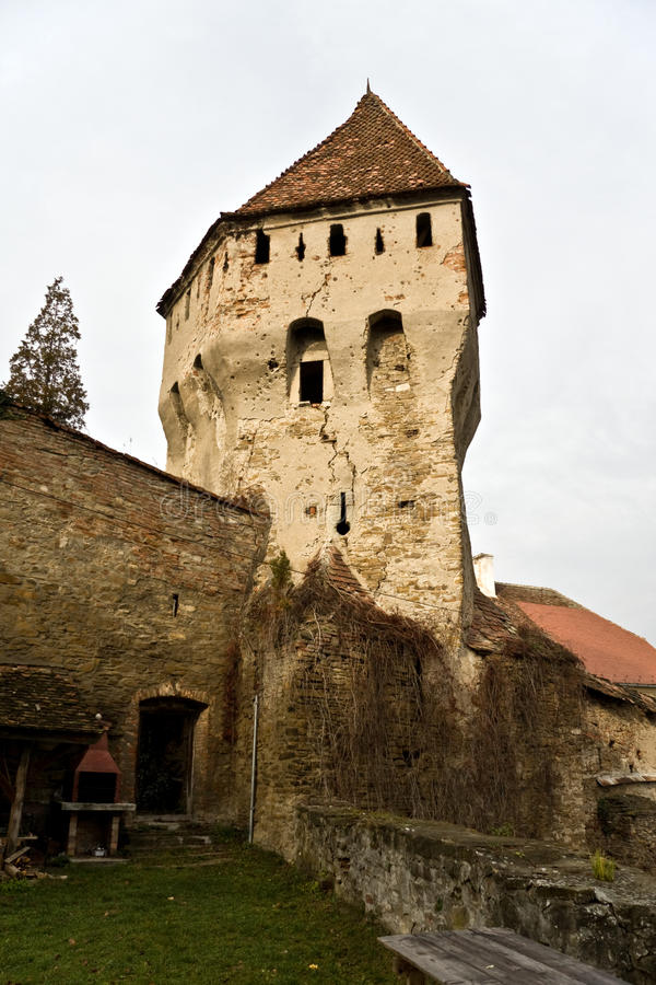 Toren, Sighisoara, Roemenië royalty-vrije stock afbeelding