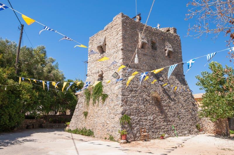 Toren van Anafonitria-Klooster stock foto's