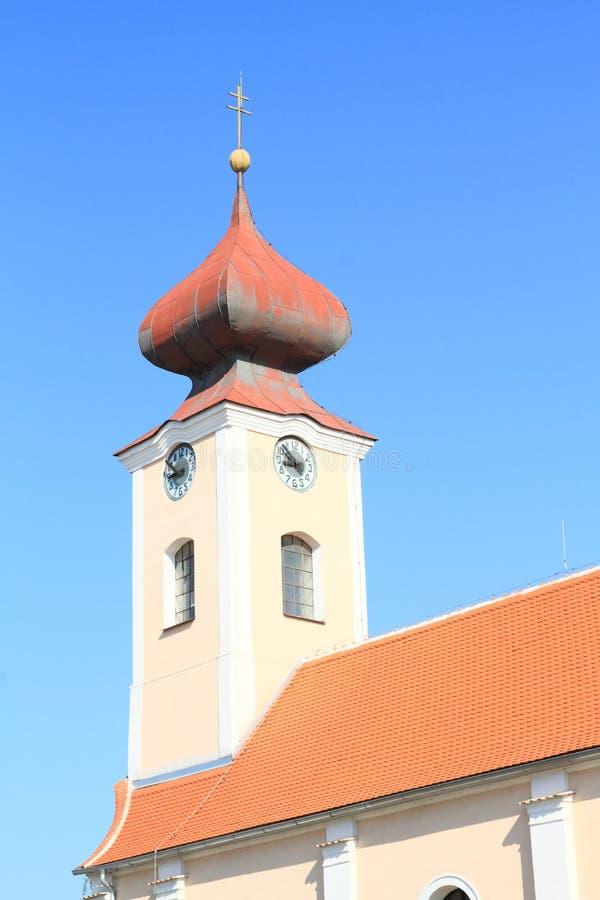 Toren van barokke Kerk van st Anna royalty-vrije stock fotografie