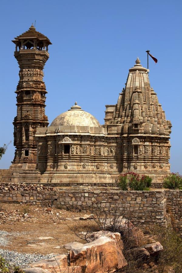 Toren van bekendheid binnen het fort Chittorgarh royalty-vrije stock afbeelding