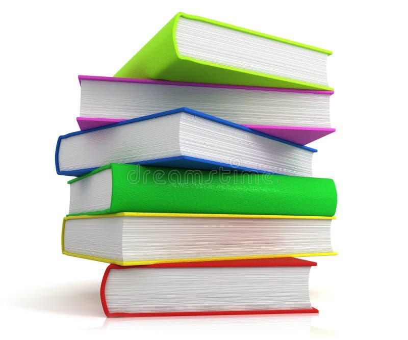 Toren van boeken stock illustratie