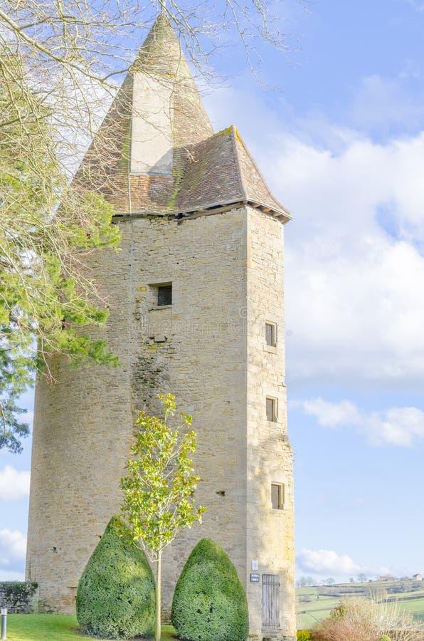 Toren van Charle le Temeraire, Charolles, Bourgondië, Frankrijk, saone stock fotografie