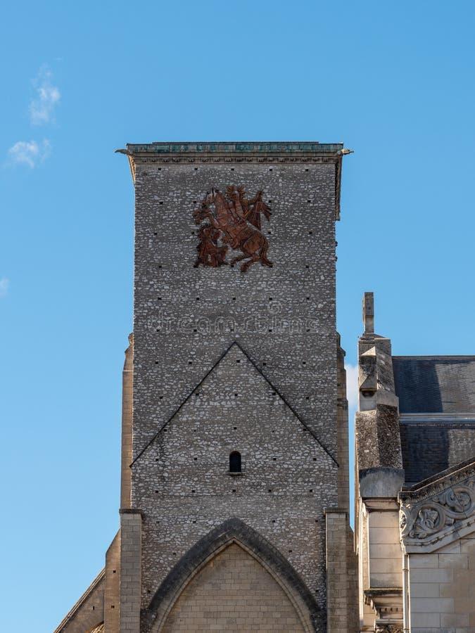 Toren van Charlemagne in Reizen, Frankrijk royalty-vrije stock afbeelding