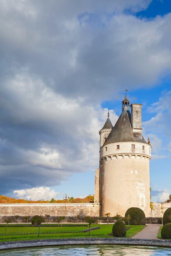 Toren van Chateau DE Chenonceau, Frankrijk royalty-vrije stock afbeeldingen