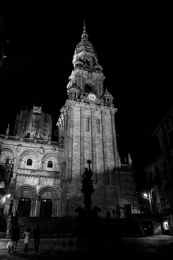 Toren van de Kathedraal in Santiago de Compostela royalty-vrije stock fotografie