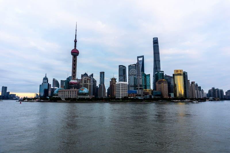 Toren van de Parel van Shanghai de Oosterse royalty-vrije stock afbeelding