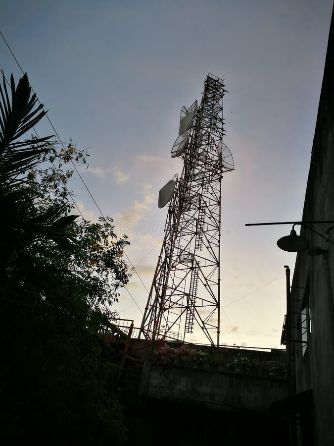 Toren van de Sacatel de Cellulaire Telefoon stock afbeelding