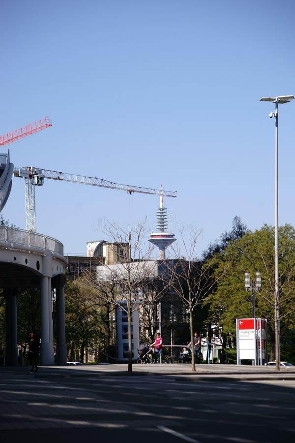 Toren van Europa Frankfurt stock foto's