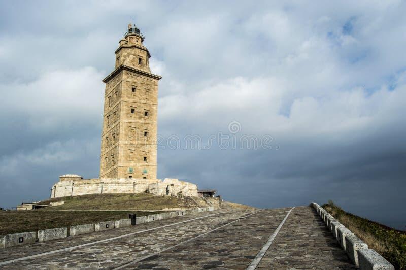 Toren van Hercules stock afbeeldingen