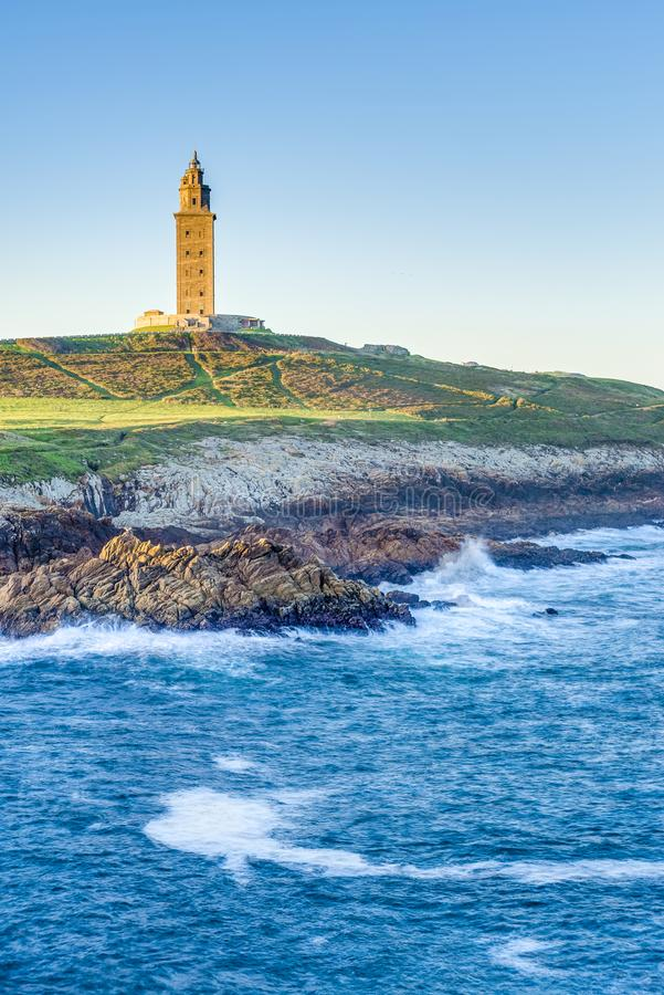 Toren van Hercules in een Coruna, Galici?, Spanje royalty-vrije stock fotografie