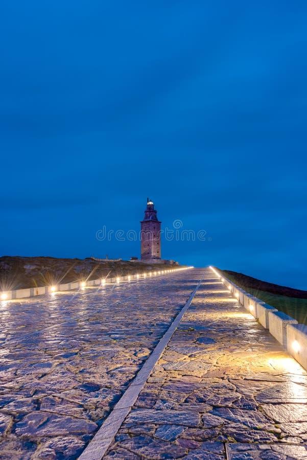 Toren van Hercules in een Coruna, Galici?, Spanje royalty-vrije stock afbeeldingen