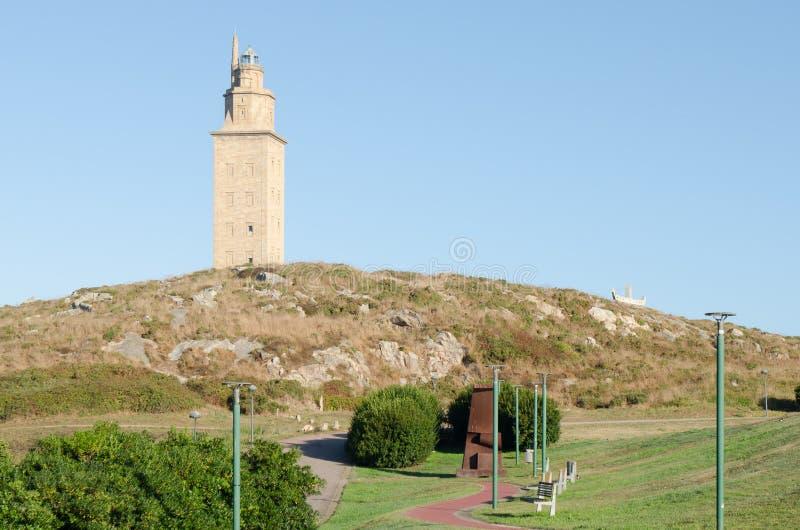 Toren van Hercules, Galicië, Spanje stock fotografie
