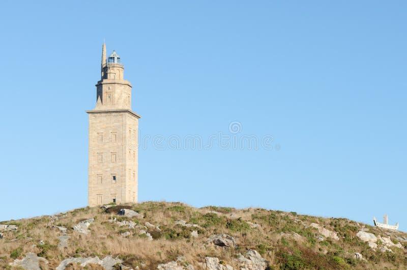 Toren van Hercules, Galicië, Spanje stock foto