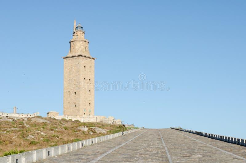 Toren van Hercules, Galicië, Spanje royalty-vrije stock foto's