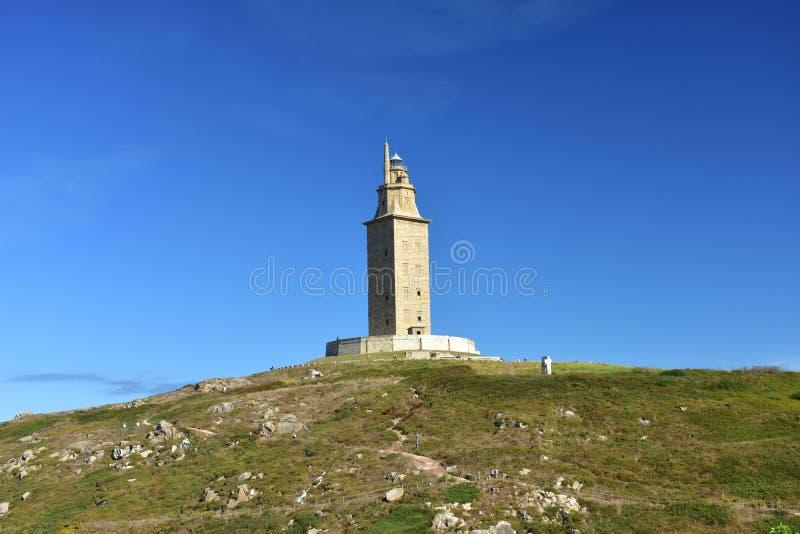Toren van Hercules, La Coruna, Spanje stock foto's