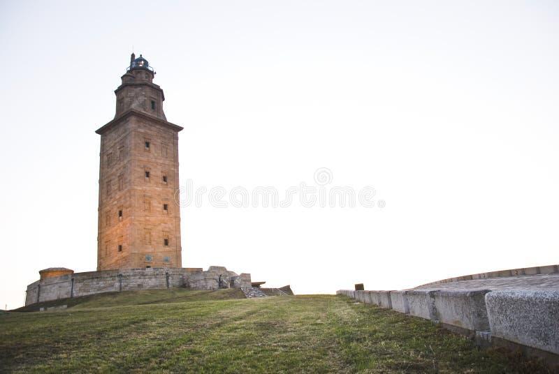 Toren van hercules negen stock afbeeldingen