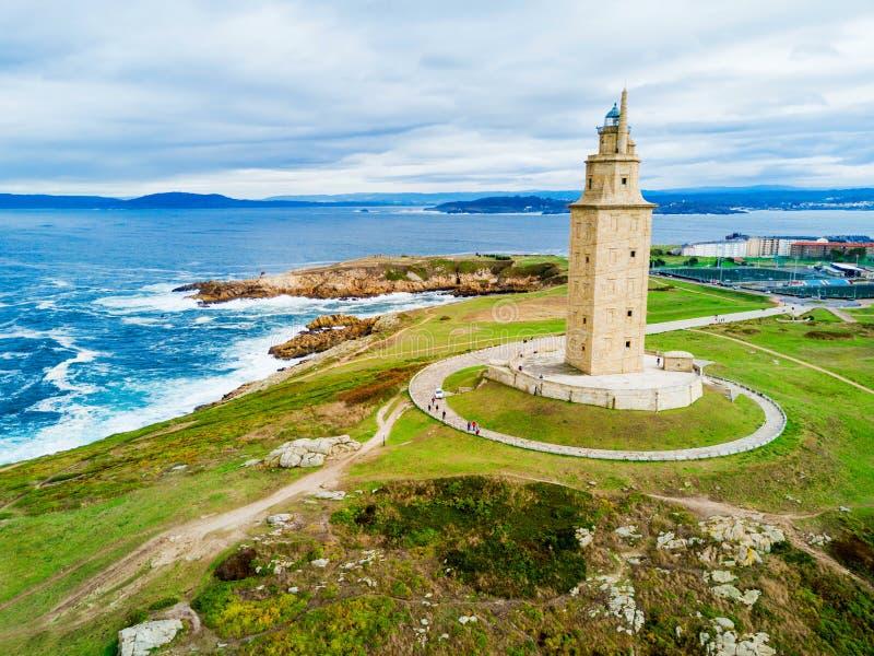 Toren van Hercules Torre in een Coruna stock foto's