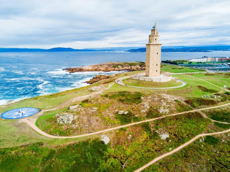 Toren van Hercules Torre in een Coruna royalty-vrije stock afbeeldingen