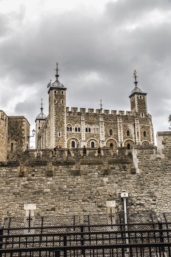 Toren van het Kasteel van Londen in Londen Engeland royalty-vrije stock foto