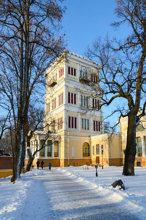 Toren van het Paleis van rumyantsev-Paskevich, Gomel, Wit-Rusland royalty-vrije stock afbeeldingen