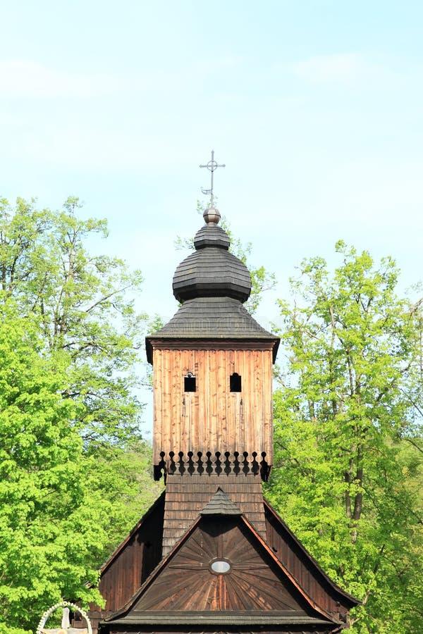 Toren van houten kerk van Anna van Vetrkovice royalty-vrije stock afbeeldingen