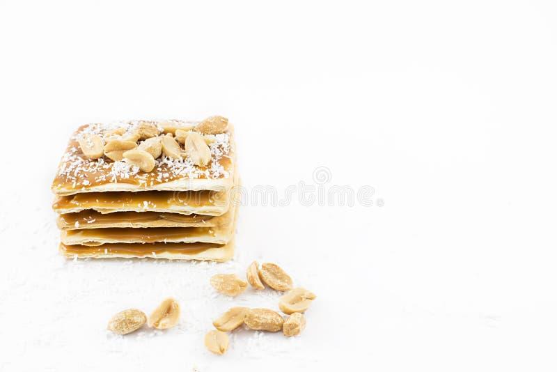 Toren van koekjes met karamel royalty-vrije stock foto