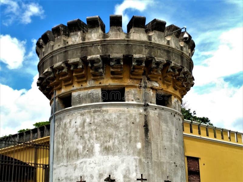 Toren van Nationale Muesum in San Jose, Costa Rica royalty-vrije stock foto's