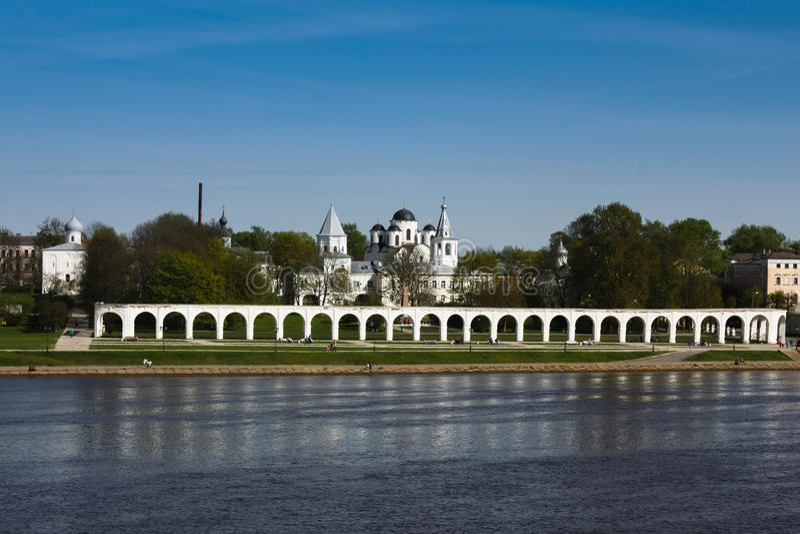 Toren van Novgorod het Kremlin, Historische Monumenten van Novgorod en Omgeving, Rusland royalty-vrije stock fotografie