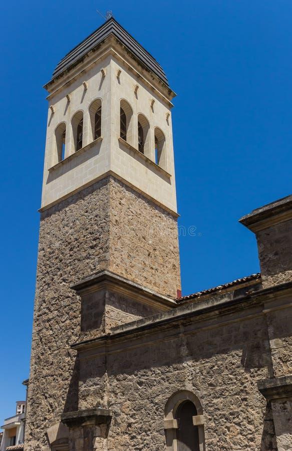Toren van San Vicente Ferrer Church in Alcoy royalty-vrije stock foto's