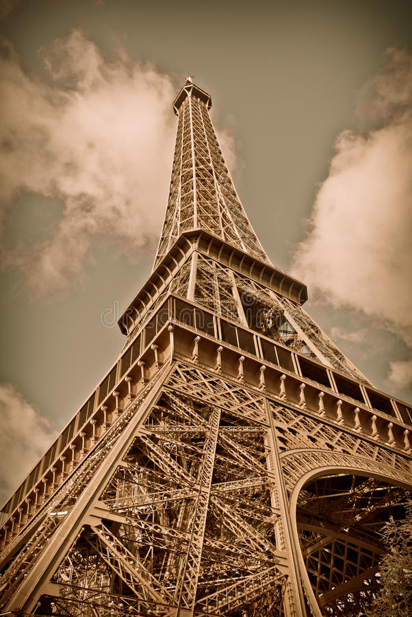 Toren van Sepia royalty-vrije stock foto