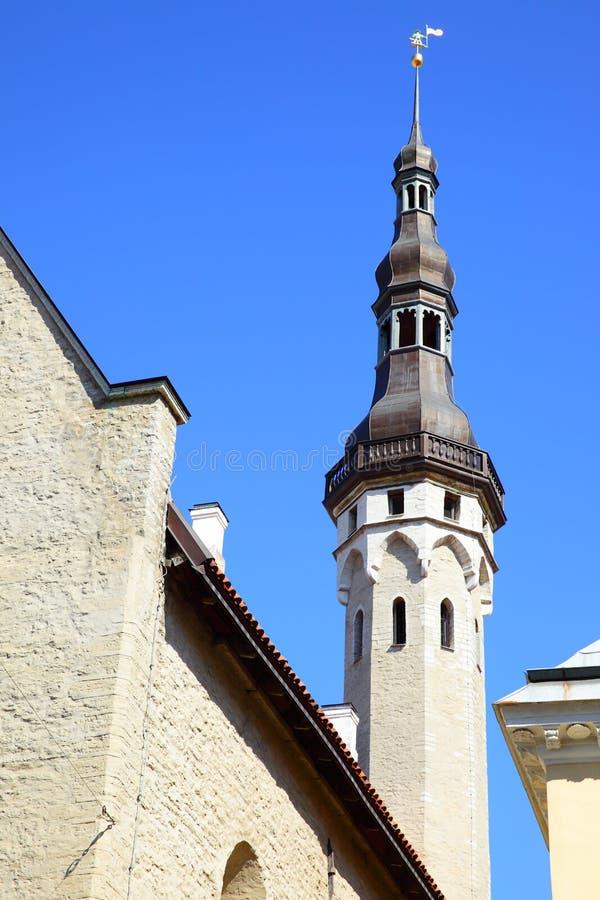 Toren van Stadhuis in Tallin stock fotografie