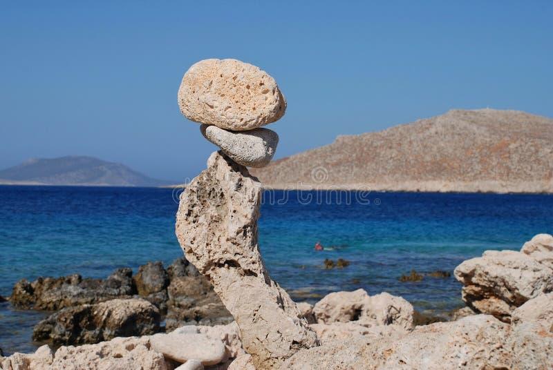 Toren van stenen, Halki stock afbeeldingen