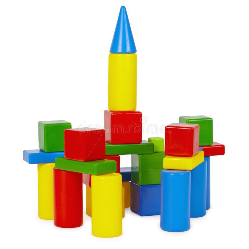 Toren van stuk speelgoed bakstenen royalty-vrije stock fotografie