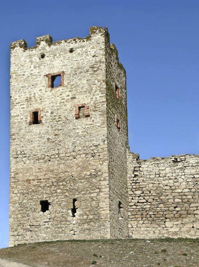 Toren van vesting Genoese in Theodosia stock fotografie