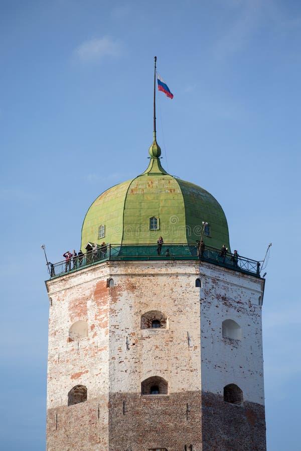 Toren van Vyborg, Rusland royalty-vrije stock foto