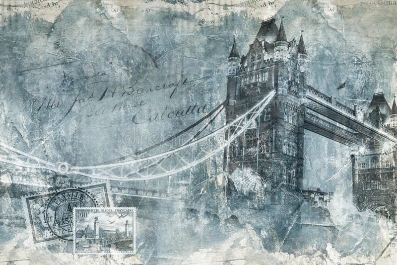 Torenbrug Londen, digitaal art. stock illustratie
