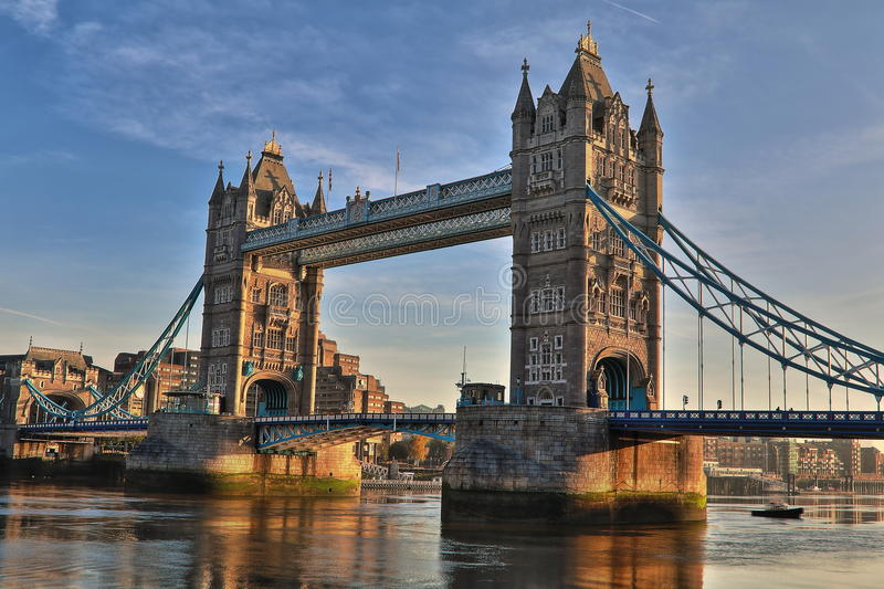 Torenbrug Londen HDR royalty-vrije stock foto