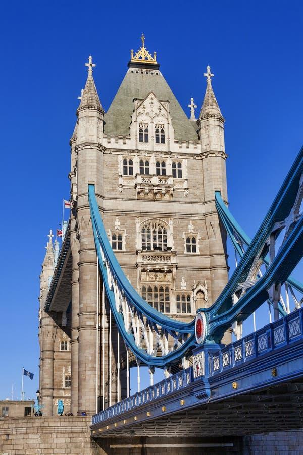 Torenbrug op de rivier Theems stock afbeeldingen